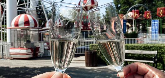 Champagnesmagning i skyerne